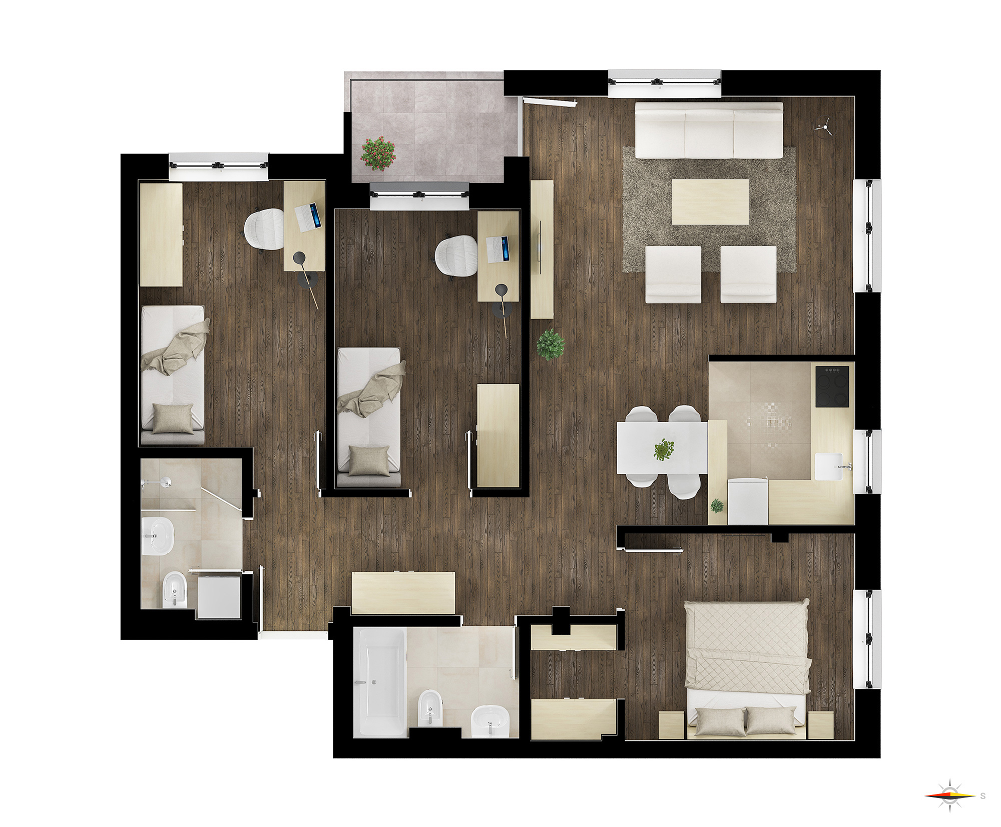 Četvorosoban stan / TIP 1