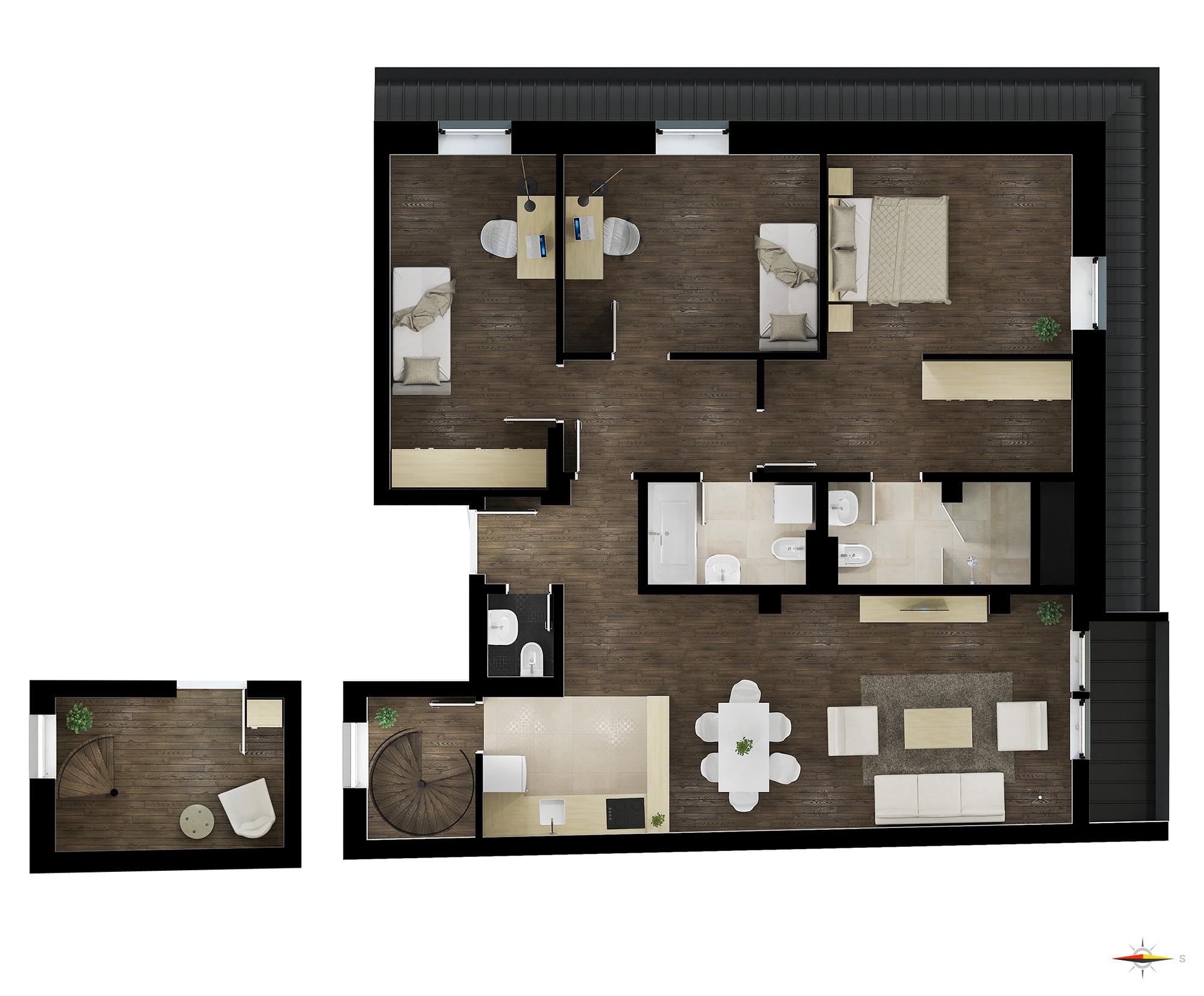 Četvorosoban stan (Dupleks) / TIP 2