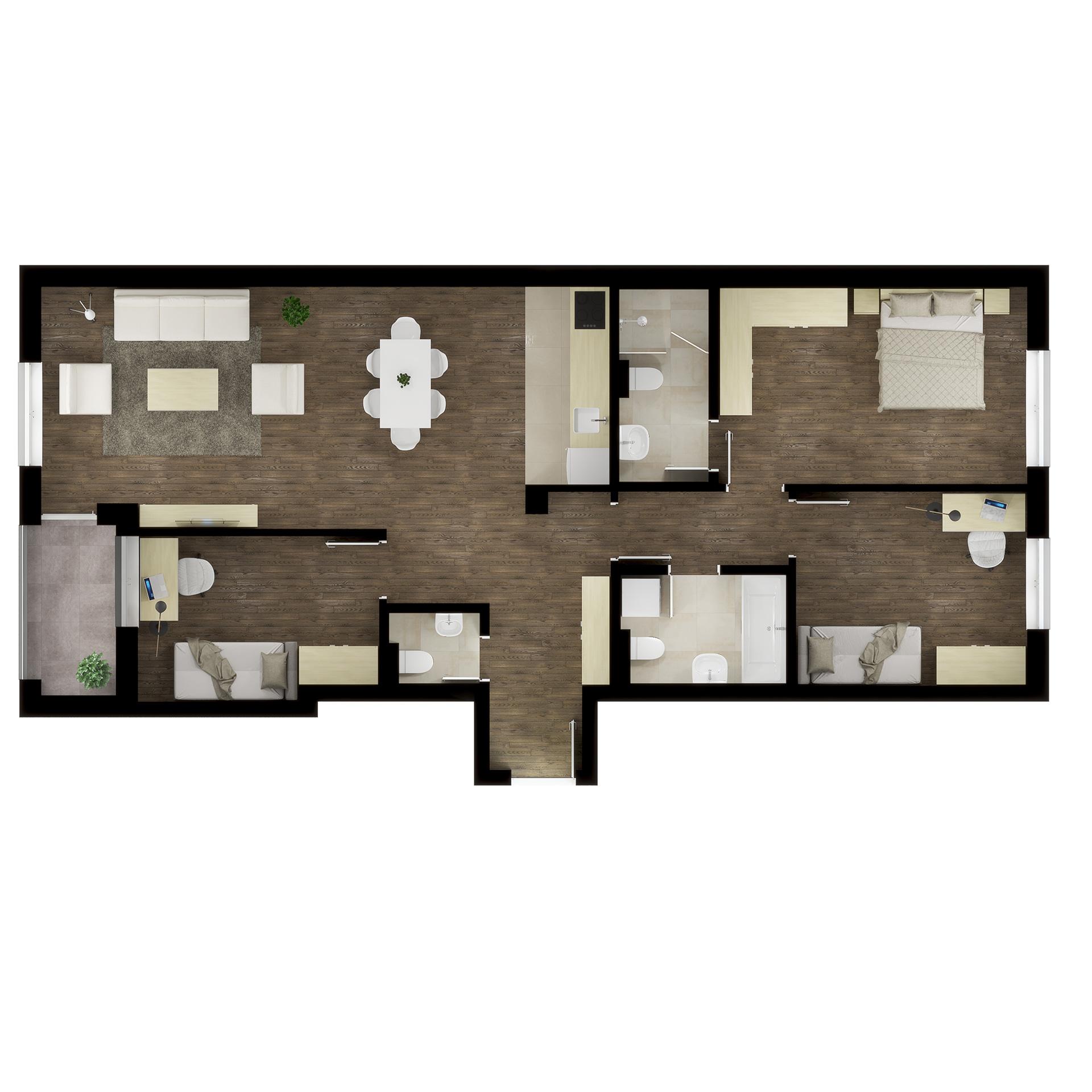 Četvorosoban stan / TIP 2A