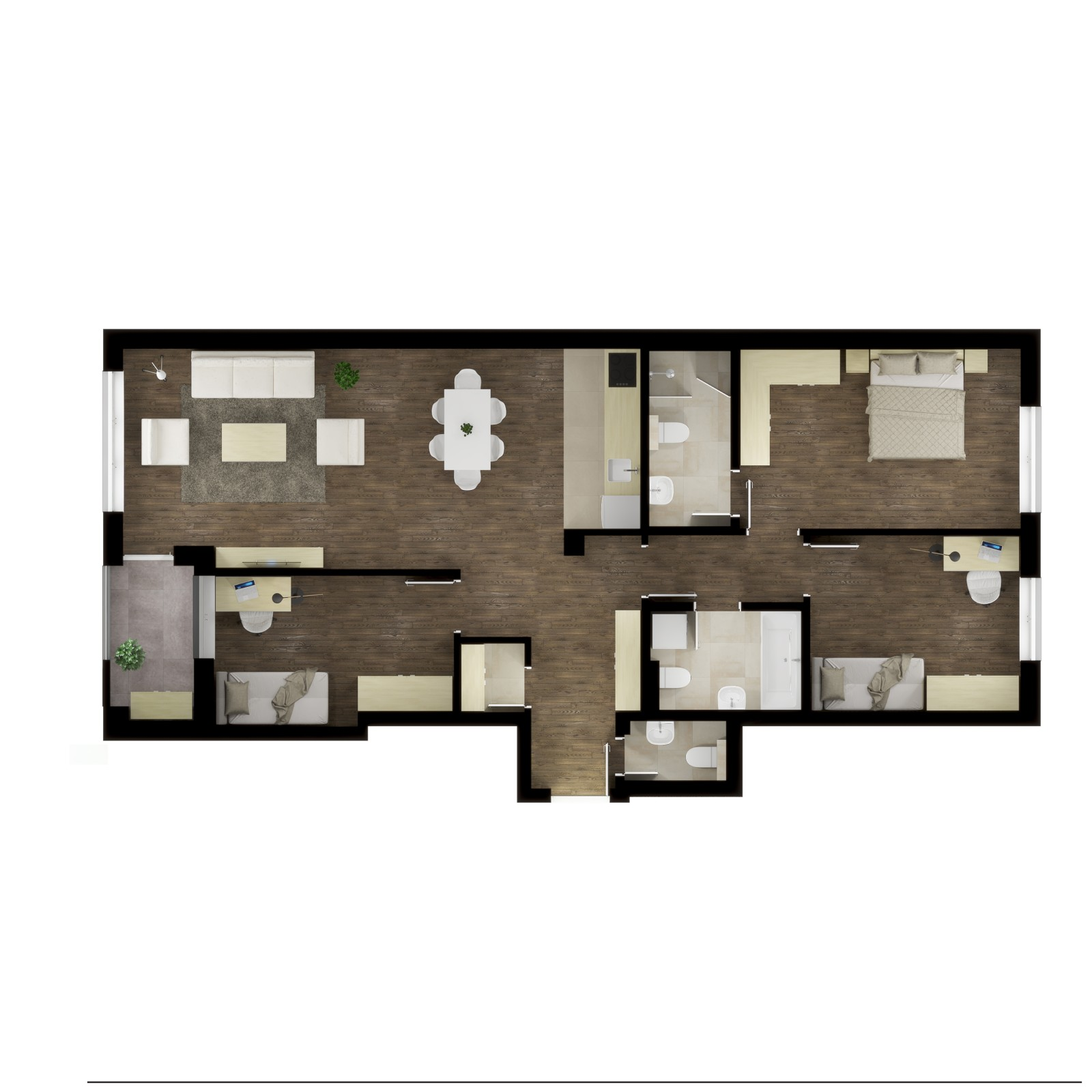 Four-bedroom apartment / TYPE 2B