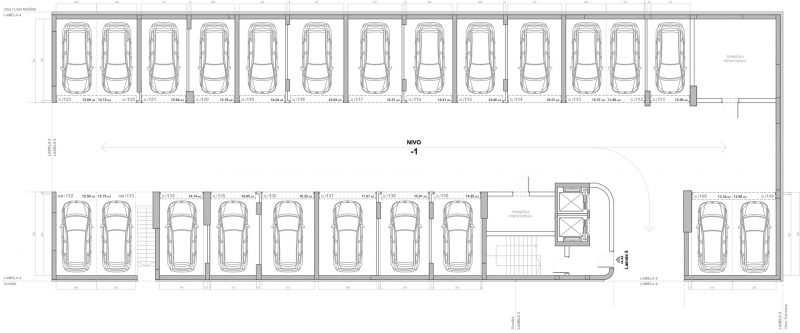 Blok D Lamela 5 Garaža Nivo -1
